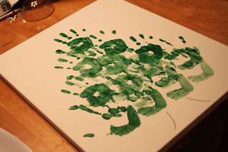 handprint Christmas tree, Christmas craft