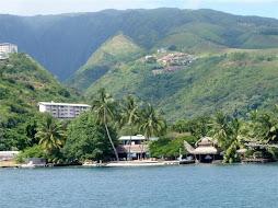 Leaving the marina in Tahiti