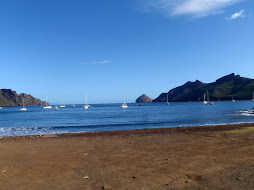 View from Nuka Hiva - next stop 3 days later in the Tuamotus