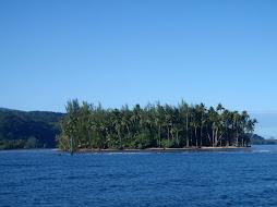 Motu on southern Tahiti