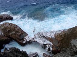 awesome waves crashing on the rocks