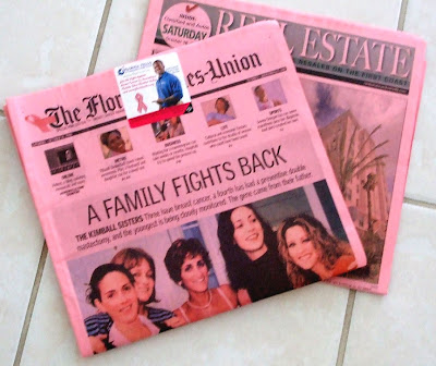 pink newspaper Florida Times-Union October 18 2008