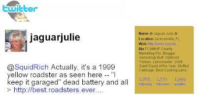 1999 Twitter Update by Jaguar Julie