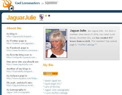 jaguarjulie squidoo lensmaster profile