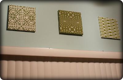 fabric wall art diy my retro kitchen. Black Bedroom Furniture Sets. Home Design Ideas
