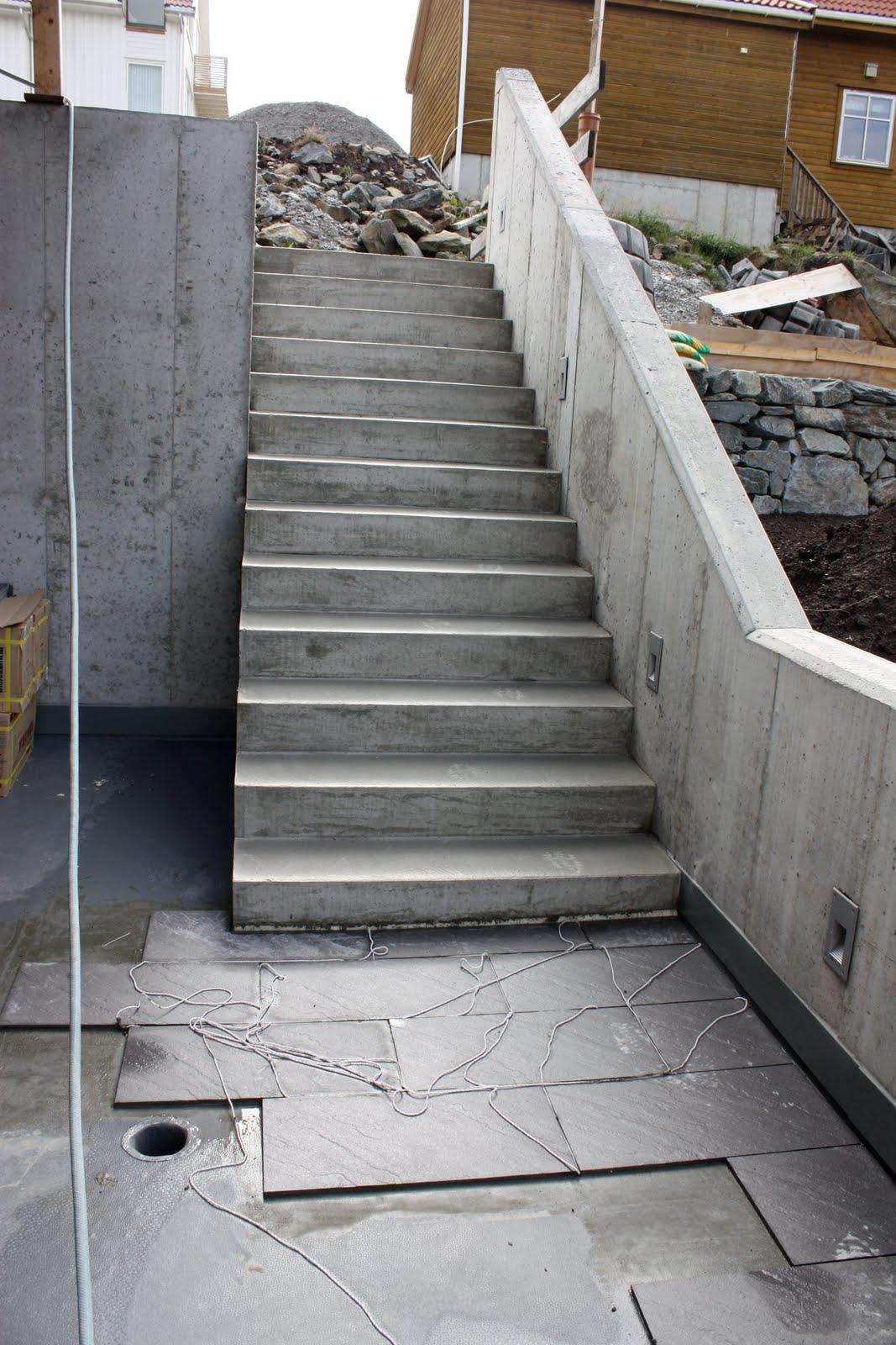 Fliser utendørs trapp