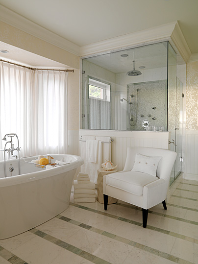 Casa Di Costa Freestanding Tub In Master Bathroom