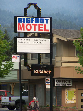 Where does bigfoot sleep