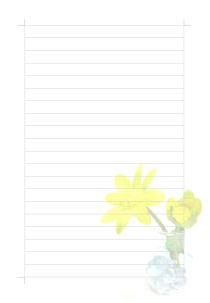 花の便箋のテンプレート