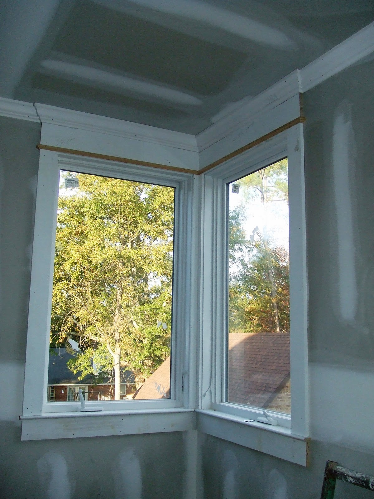 Glazed Window Trim : The stained glass window let there be trim