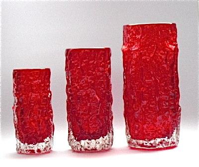 Whitefriars Glasswannabees Bark Vases