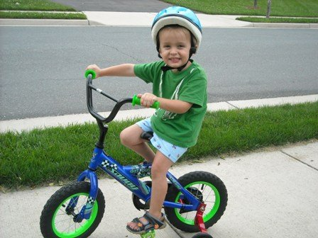 Luke and his BIKE!!!!!