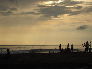 sunset at brawa beach canggu