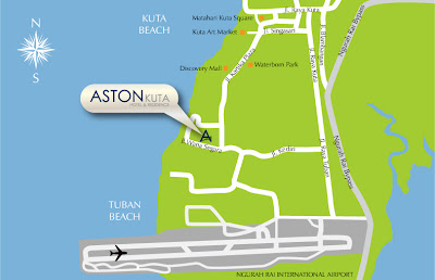 aston kuta hotel and residence map