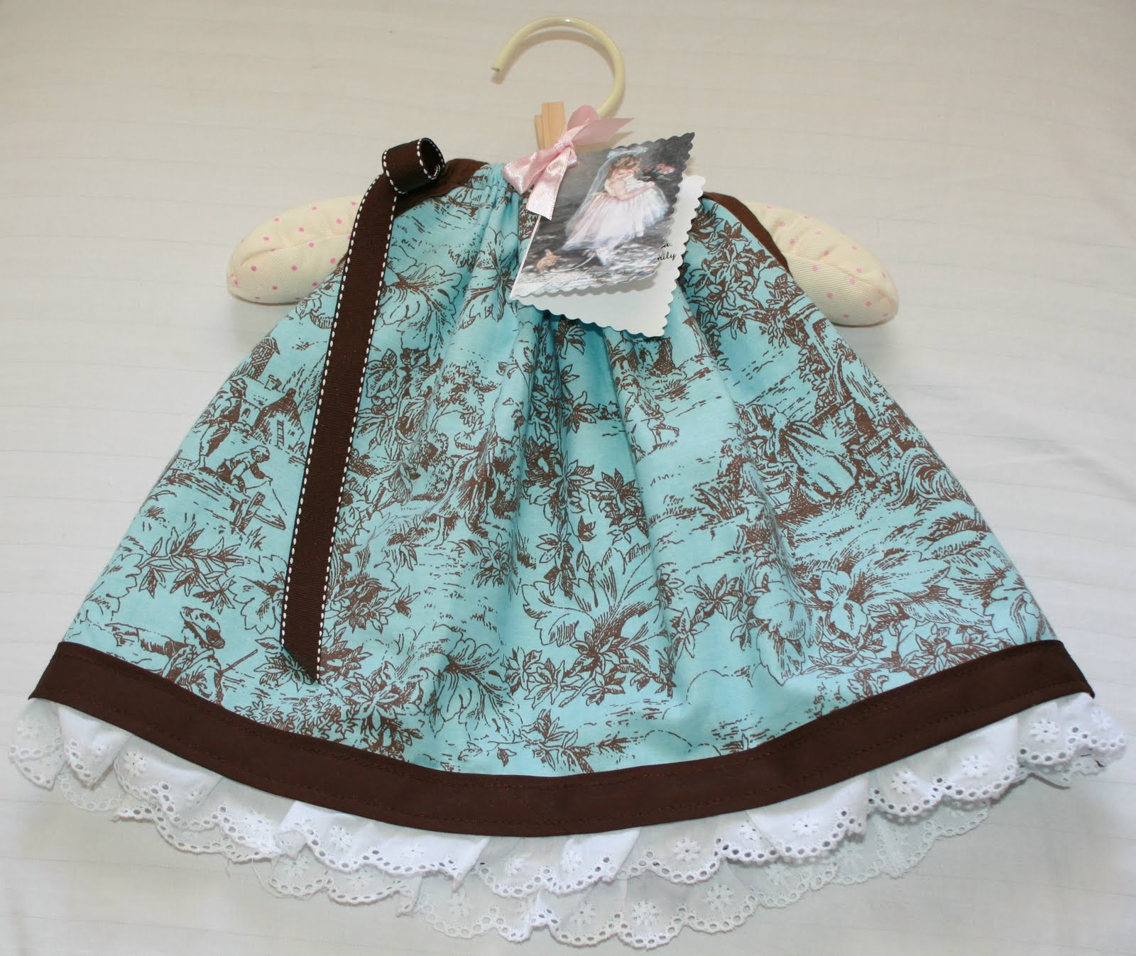 Sweetie Pie Baby Pillowcase Style Dress With Diaper Cover