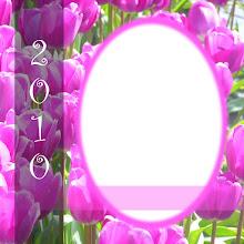 Free Digital Tulip Scrapbook Quick Page