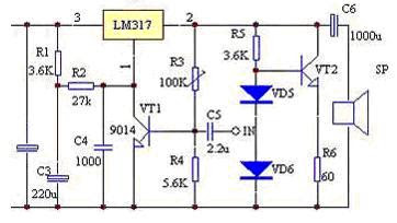 power amplifier using ic lm317 another electronics circuit rh another electronics blogspot com lm317 amplifier schematic LM317 Internal Circuit