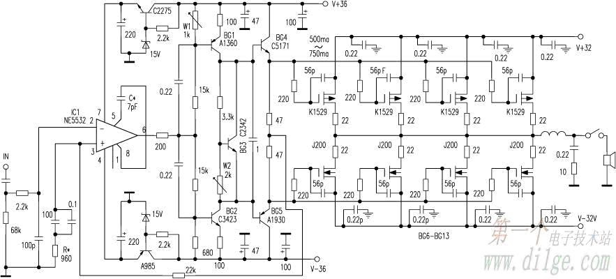 an easy adjustment of the power amplifier