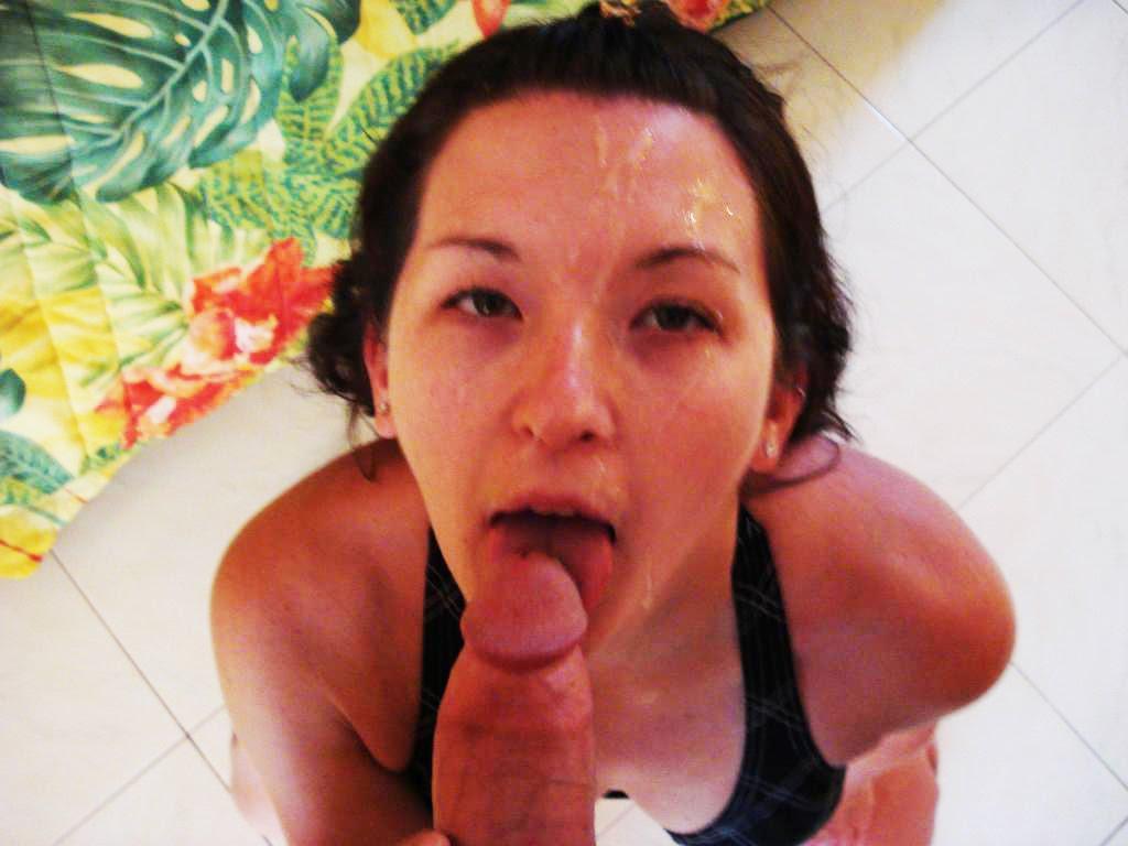 Daddy daughter blow job cumming moaned