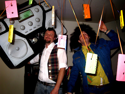 Totally Awesome 80's Party via Kara's Party Ideas with inflatable boom box