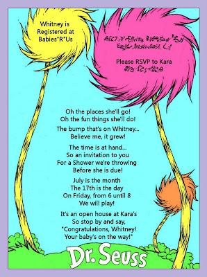 Karas Party Ideas Dr Seuss Baby Shower Invitation