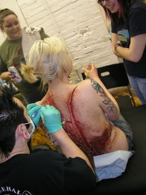 Skinless Tattoo by Scalpel OW OW OW OW OWWWW!