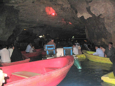 Boats at Ali Sadr cave