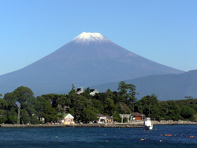 Mount Fuji from Osezaki beach