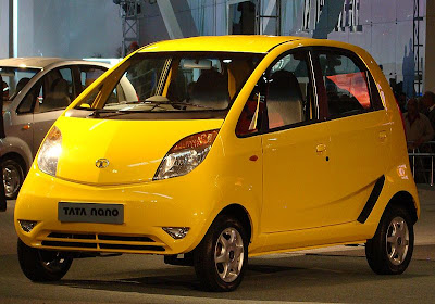 yellow Tata Nano, Worlds Cheapest city Car To Date