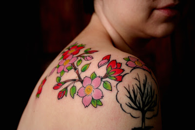 Cherry Blossoms and a Tree Tattoo