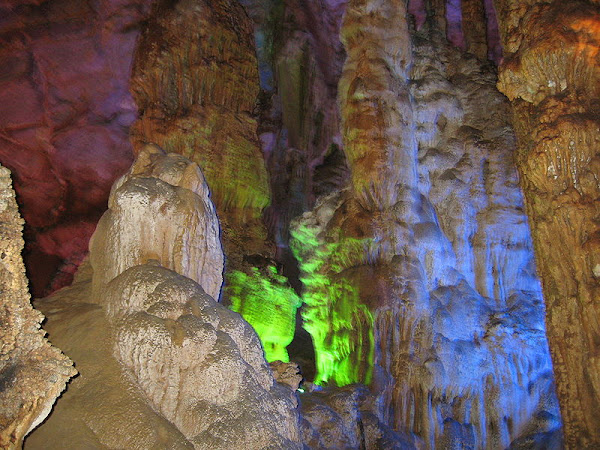 Stalagmite inside Phong Nha cave, Phong Nha - Ke Bang National park