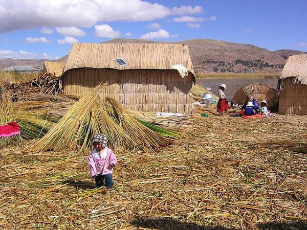 uros people, floating reed, Lake Titicaca