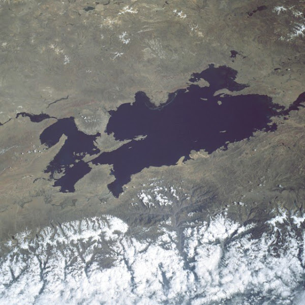View from space, Lake Titicaca