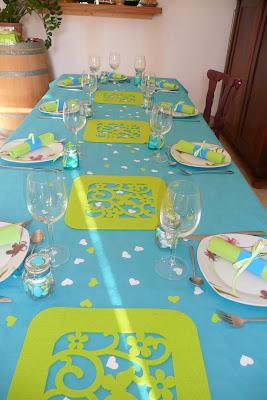 Cococrea d co bapt me for Decoration bapteme bleu