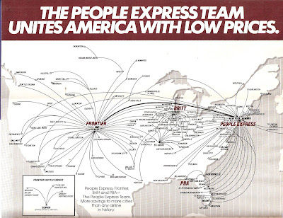 people express People express tried to grow too fast, acquired one too many smaller airlines, took on too much debt, and saw its price-slashing imitated by the newly galvanized major airlines.