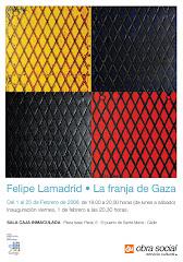 Cartel FRANJA DE GAZA