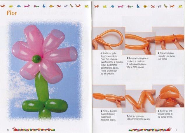 como hacer una flor con globos pencil