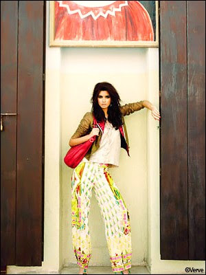 Diana Penty features for the fashion magazine Verve