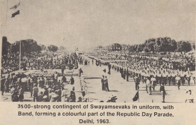 Swayamsevaks participated in Republic Day Parade. YES, in 1963.