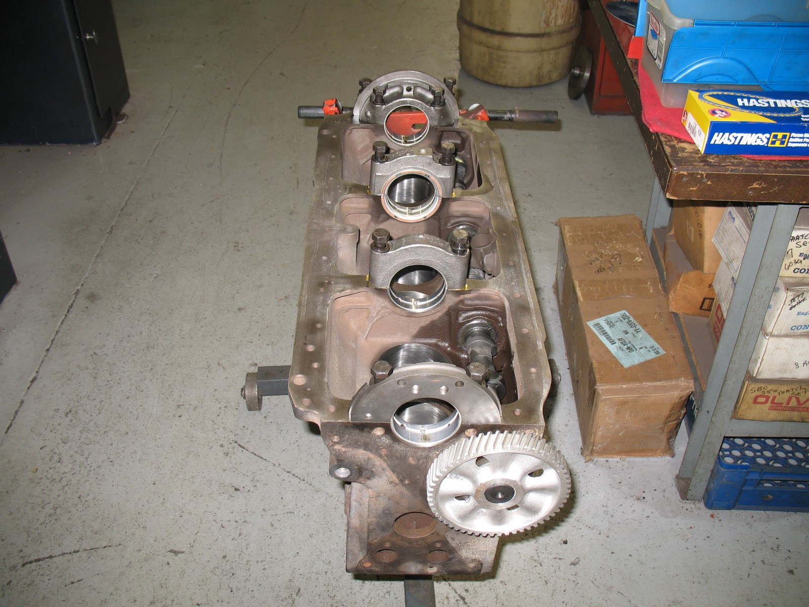 Old car fun  Engine assembly