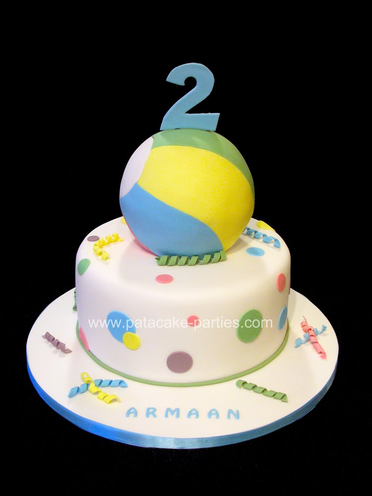 bouncy ball cake extra deep bottom tier with 3d ball cake decorated to ...