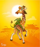иллюстрация жираф