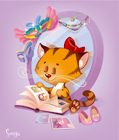 иллюстрация котенок