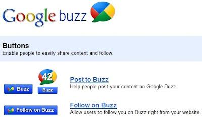 Google Buzz Buttons