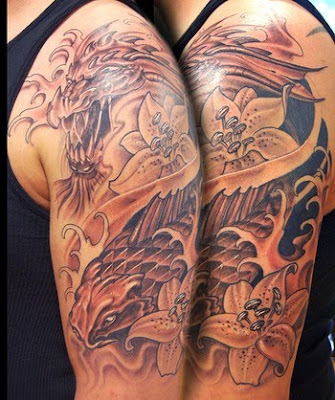 Best new tattoo gallery dragon koi tattoos. Just one more simple tattoo on my gallery :)