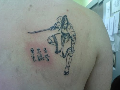 Japanese Kanji Tattoo and Samurai Tattoo. Japanese Kanji Tattoo and Samurai