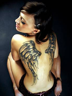 wings back tattoos