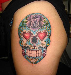 day of the dead skull tattooday of the dead skull tattoo