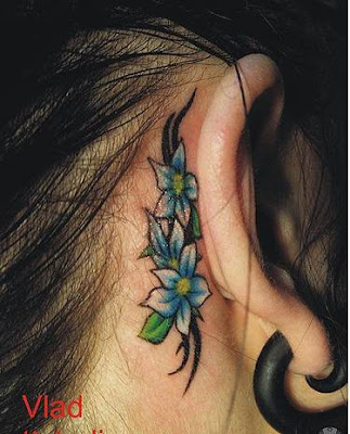 Womens Tattoos With Tribal Flower Tattoo