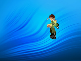 Ben Ten 10 standing tall Wallpapers in Classic Ripple background